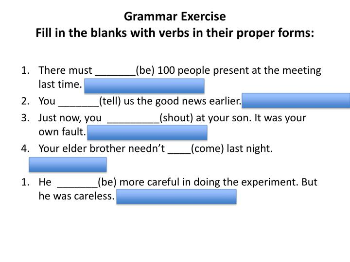 Grammar Exercise