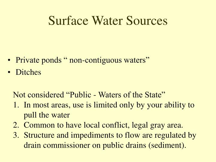 Surface Water Sources