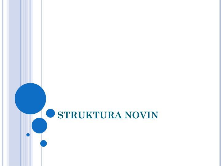 STRUKTURA NOVIN