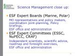 science management close up