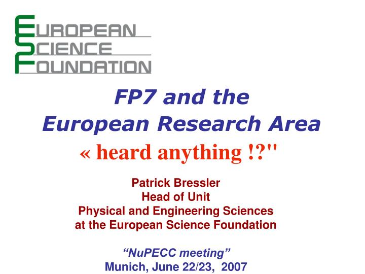 FP7 and the