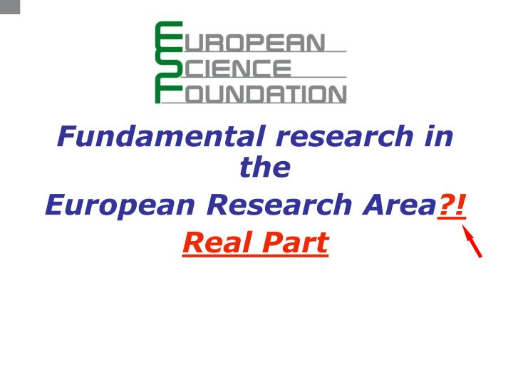 Fundamental research in the