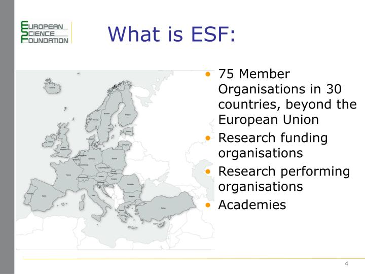 What is ESF:
