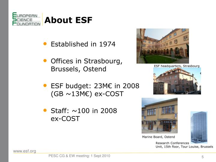 About ESF