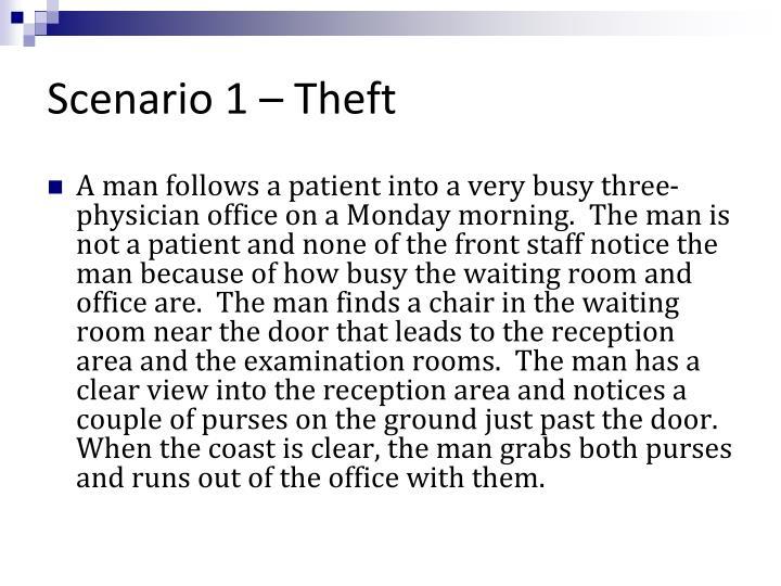 Scenario 1 – Theft