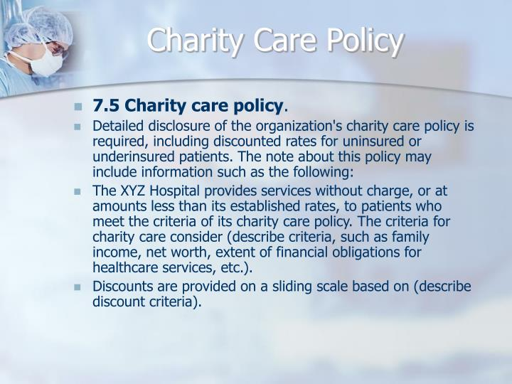 Charity Care Policy