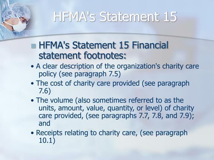 HFMA's Statement 15