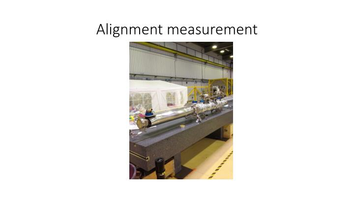 Alignment measurement