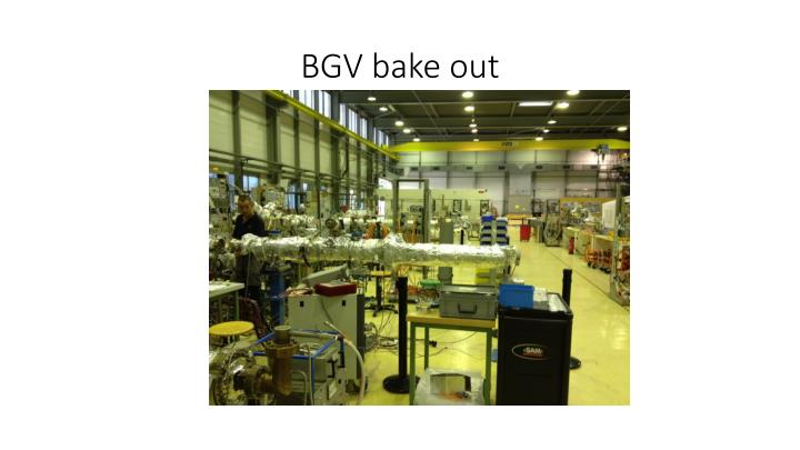 Bgv bake out