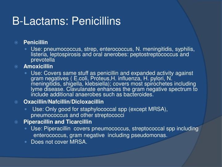 B-Lactams: Penicillins