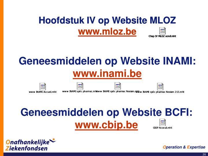 Hoofdstuk IV op Website MLOZ