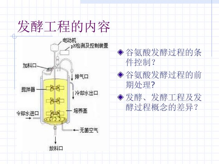 谷氨酸发酵过程的条件控制?