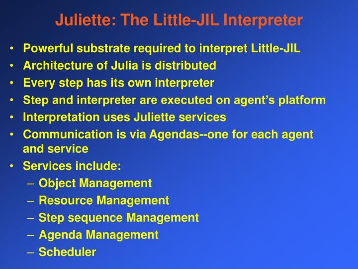 Juliette: The Little-JIL Interpreter