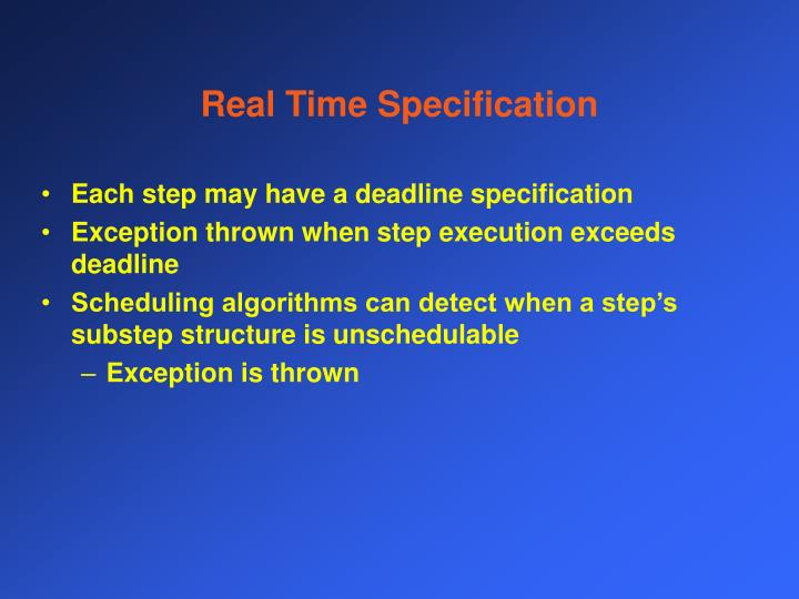 Real Time Specification
