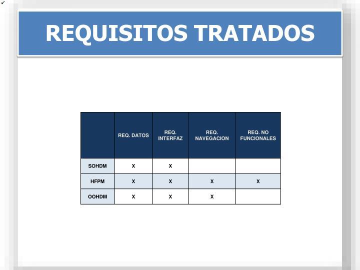 REQUISITOS TRATADOS
