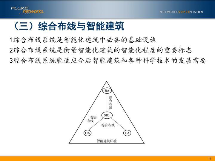 (三)综合布线与智能建筑