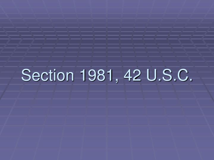 Section 1981 42 u s c
