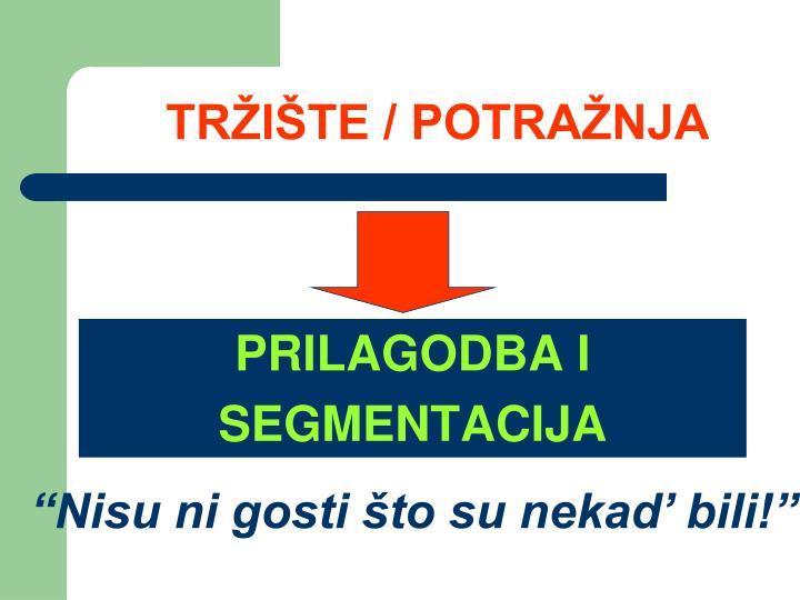 TRŽIŠTE / POTRAŽNJA