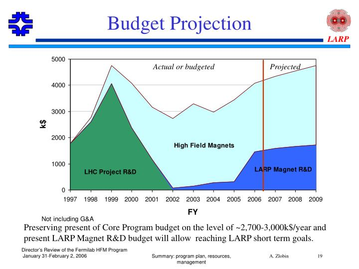 Budget Projection