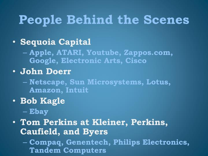 People Behind the Scenes