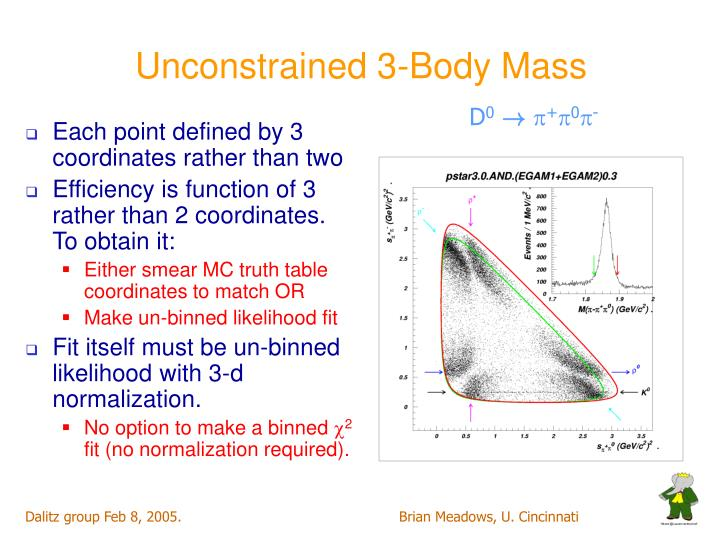 Unconstrained 3-Body Mass