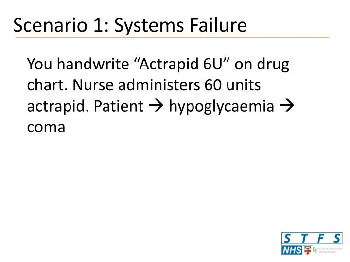 Scenario 1: Systems Failure