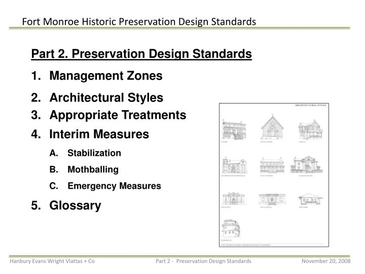 Part 2. Preservation Design Standards