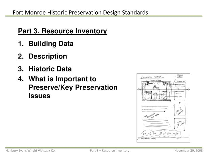 Part 3. Resource Inventory