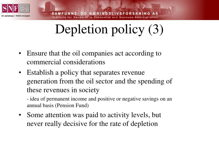 Depletion policy (3)