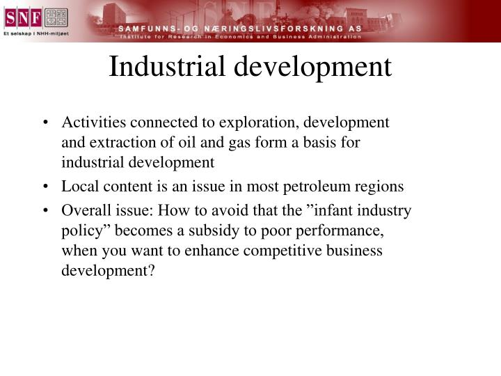 Industrial development
