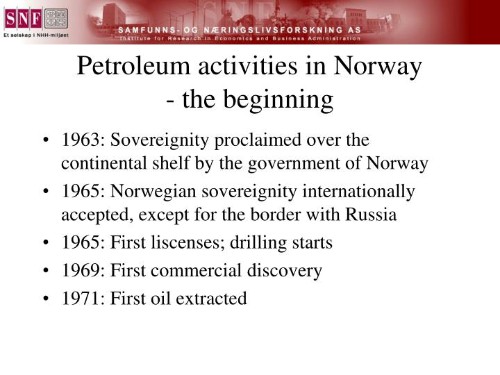 Petroleum activities in Norway