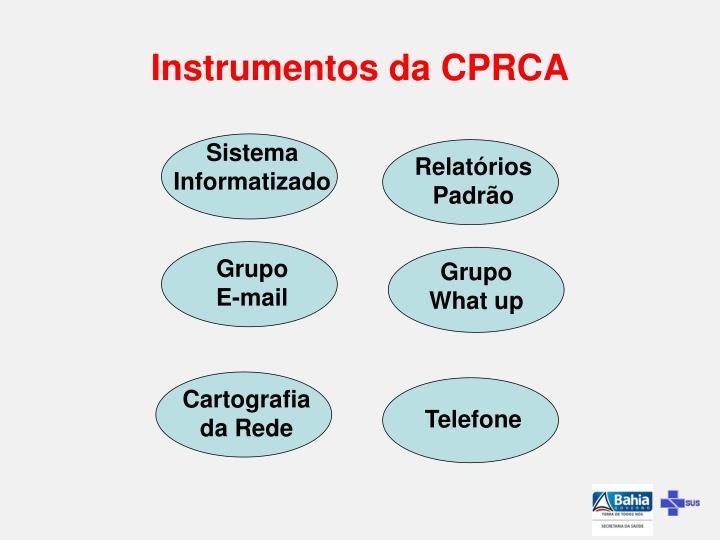 Instrumentos da CPRCA