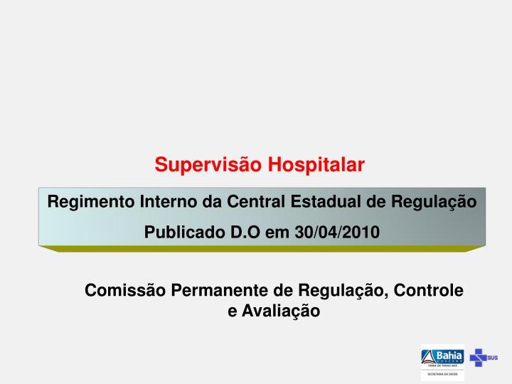 Supervisão Hospitalar