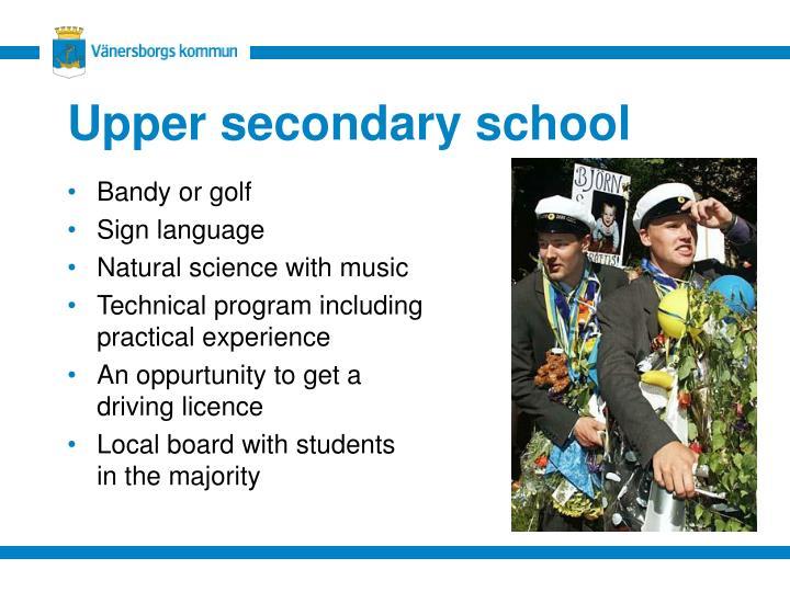 Upper secondary school