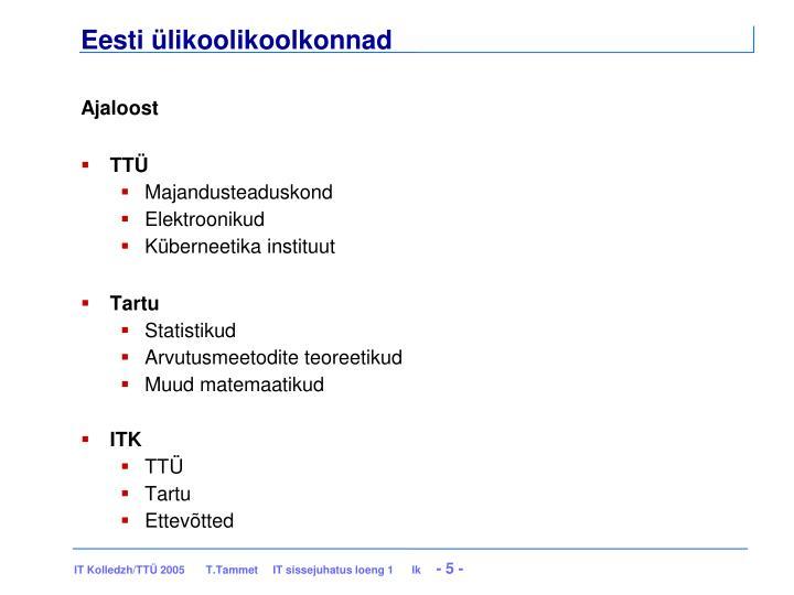 Eesti ülikoolikoolkonnad