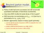 beyond parton model