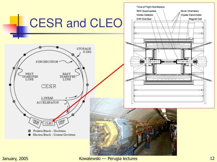 CESR and CLEO