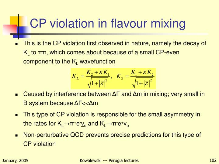 CP violation in flavour mixing
