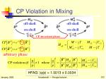 cp violation in mixing