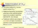 determination of v ub