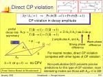 direct cp violation