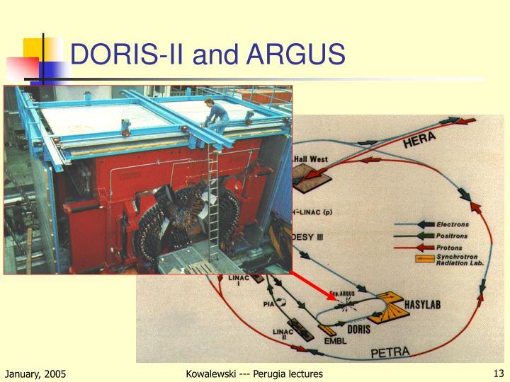 DORIS-II and ARGUS