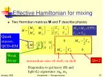 effective hamiltonian for mixing