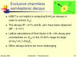 exclusive charmless semileptonic decays