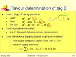 flavour determination of tag b