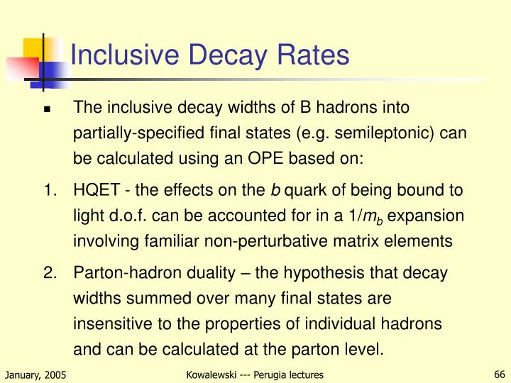 Inclusive Decay Rates