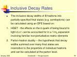 inclusive decay rates