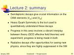 lecture 2 summary