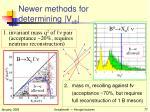 newer methods for determining v ub