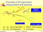overview of cp asymmetry measurement at b factories